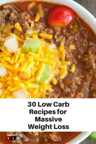 30 Low Carb Recipes for Massive Weight Loss