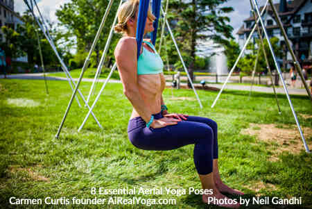 2. Chair in the Cross Position - Aerial Yoga Is It Right For You