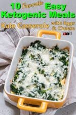 Kale Casserole with Eggs and Cheese