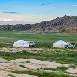 Our First Campsite - Mongolia Starting With The Great Steppes