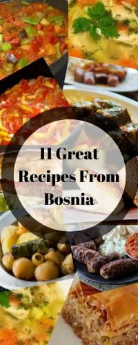 Collage of bosnian foods
