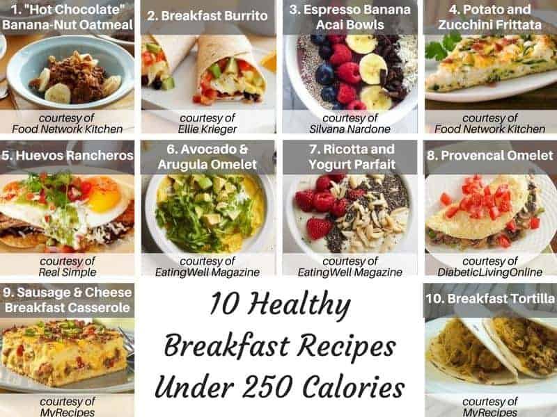 10 Healthy Recipes Under 250 Calories