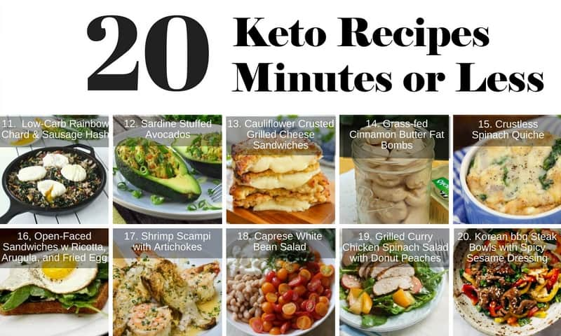 20 Healthy Keto Recipes In 20 Minutes Or Less #11 - #20