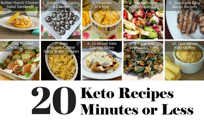 20 Healthy Keto Recipes In 20 Minutes Or Less #1 - #10