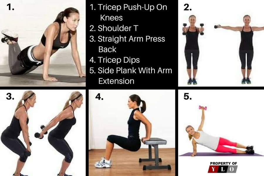 Remove Arm Fat Fast with 10 Quick Exercises 1-5