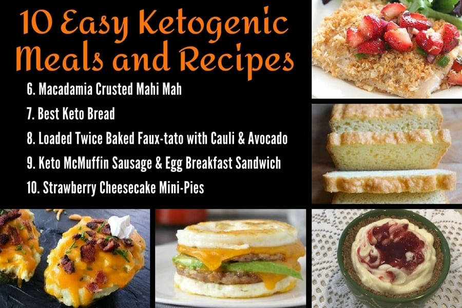 10 Easy Ketogenic Meals and Recipes 6-10