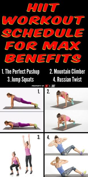 HIIT Workout Schedule For Max Benefits 4