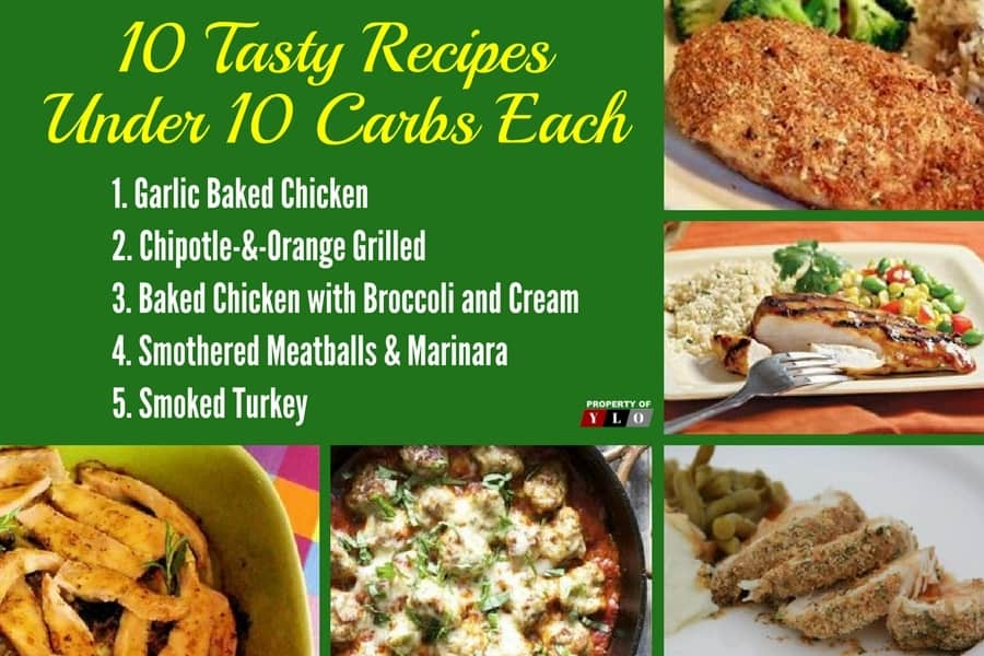 Low Carb Diet: 10 Tasty Recipes Under 10 Carbs Each 1-