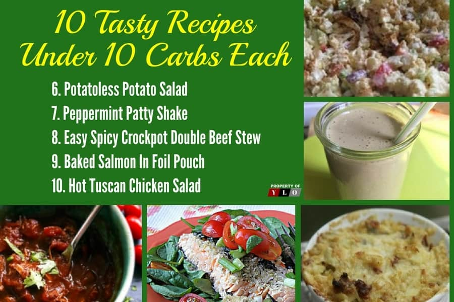 Low Carb Diet: 10 Tasty Recipes Under 10 Carbs Each 6-10