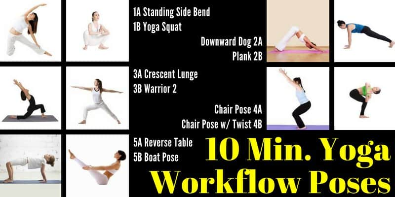 10 Minute Yoga Workflow Energy Booster Yoga Poses