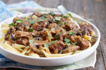 Pulled Beef Recipes: 8. Beef Stroganoff