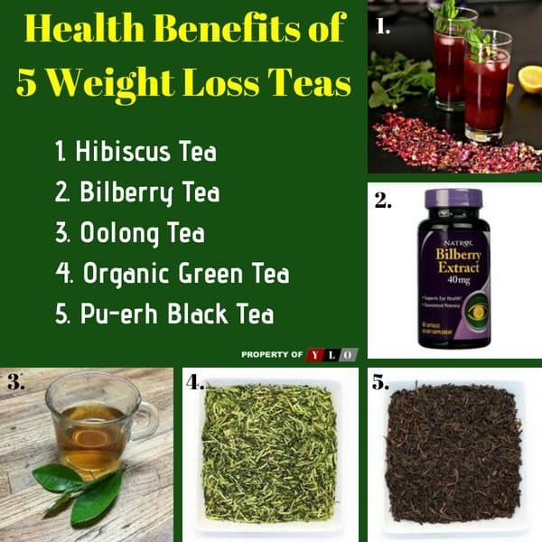 Health Benefits of 5 Weight Loss Teas