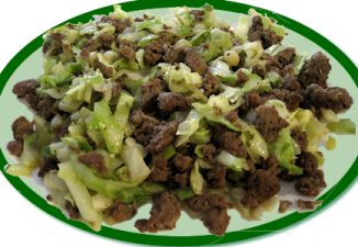 Keto Friendly Cabbage and Hamburger Stir-Fry Recipe