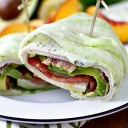Low Carb Meal Plan - 1 California Turkey and Bacon Lettuce Wraps