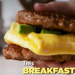 Low Carb Meal Plan - 2. Keto Sausage Breakfast