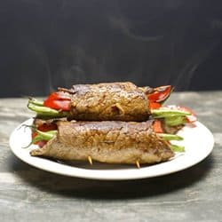 Low Carb Meal Plan - 2. Steak Rolls