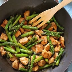 Low Carb Meal Plan - 3 Chicken and Asparagus Lemon Stir Fry