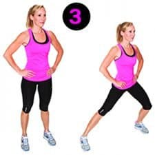 Toned Leg Workouts 3. Side Lunges