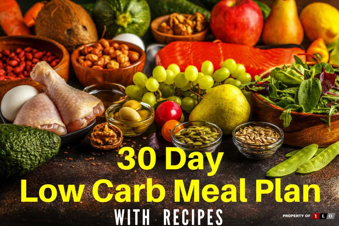 30 Day Low Carb Meal Plan Including Recipes