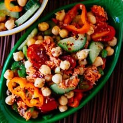Low Carb Meal Plan - 4 Salmon Chickpea Salad