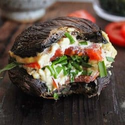 Low Carb Meal Plan - 4. Portobello Mushroom Cashew Cheese Burger