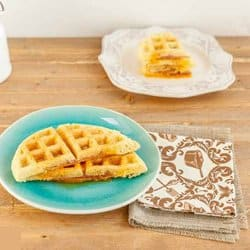 Low Carb Meal Plan - 6. Ham and Cheese Waffle