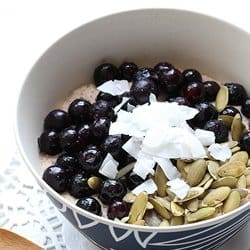 Low Carb Meal Plan - 8. Blueberry Porridge