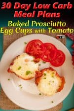 Baked Prosciutto Egg Cups with Tomato