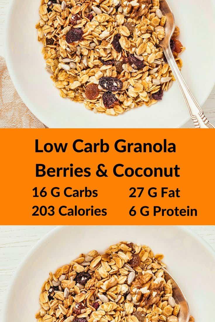 Low Carb Granola Berries & Coconut