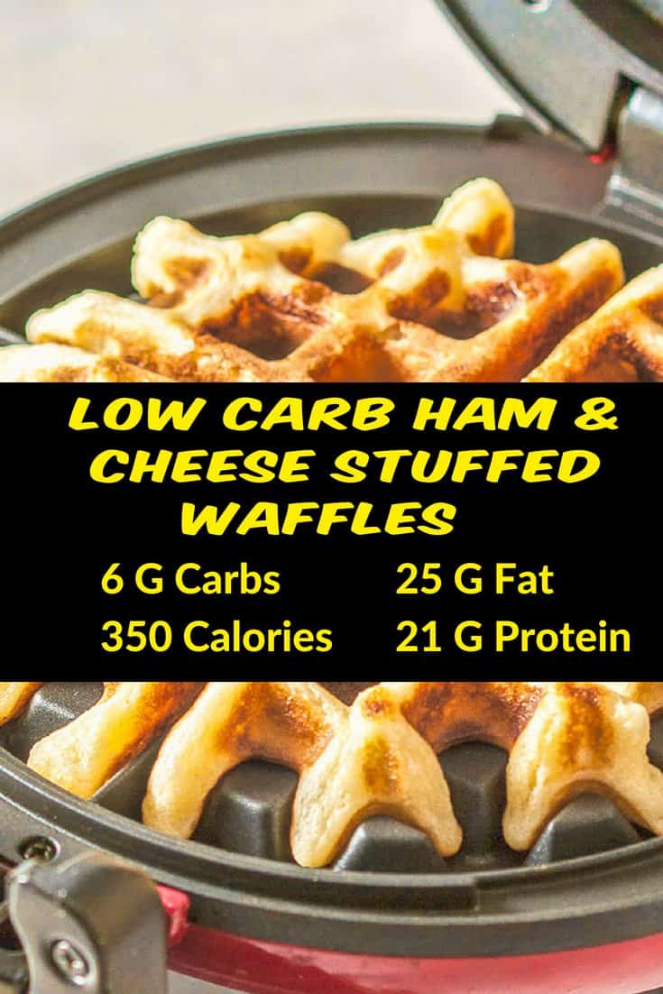 Low Carb Ham & Cheese Stuffed Waffles