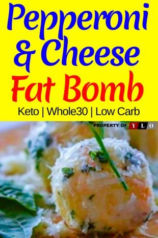 Keto Fat Bombs - Pepperoni & Cheese Recipe 1