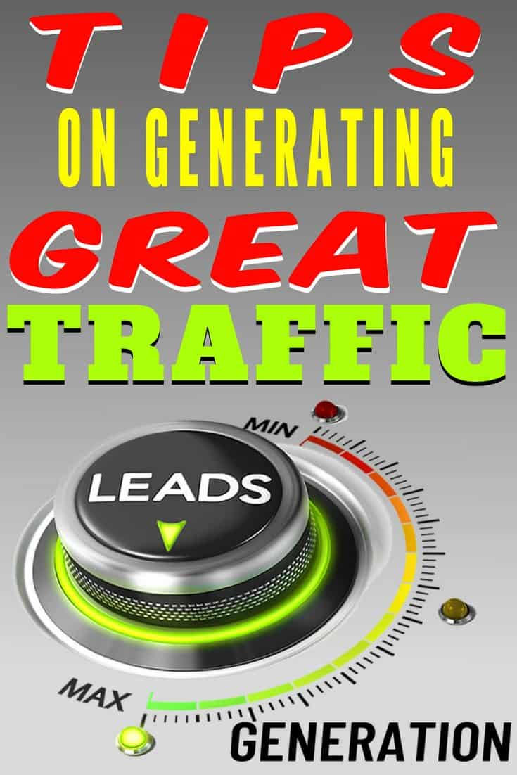 Tips On Generating Great Leads. You can generate great leads using incentives, because a lot of folks will act when there is an incentive for them to do so. You're providing customers with incentives they need generates sales immediately. Offer something extra and many times this will return many leads.