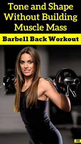 Effective Back Workout Girl Doing Weight Training