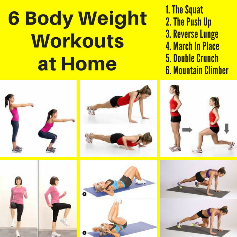 6 Easy Body Weight Workouts at Home