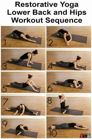 Restorative Yoga Lower Back and Hops Workout Sequence