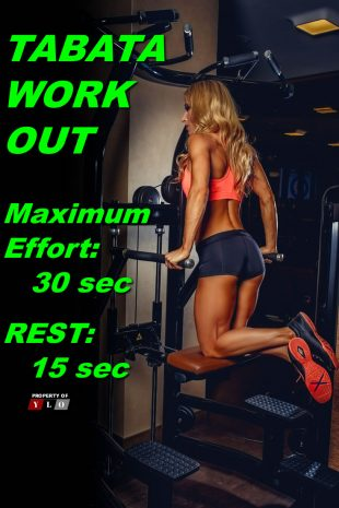 TABATA WORKOUT Maximum Effort 30 sec Rest 15 Sec