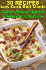 Baked Brussel Sprout Casserole with Bacon