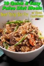 Beef Strip Stir Fry with Riced Cauliflower