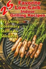 Grilled Sausages on Rosemary Skewers and Garlic
