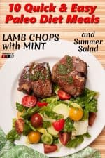 Lamb Chops with Mint and Summer Salad