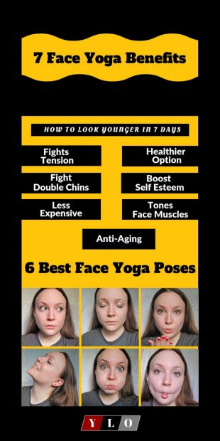 It may help reduce wrinkles. Facial yoga builds awareness so you can release the unhealthy tension that's carving crows' feet and other wrinkles. For more anti-aging action, It may promote collagen production. #yoga #health #fitness #flexibility #trail #yogaforbeginners #yogaposes #yogainspiration #yogaworkout #yogaworkouts #yogalifestyle