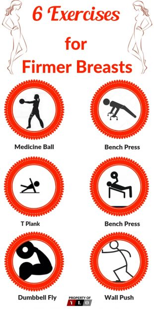 6 exercises for perfect breasts infographic.