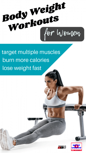 Fit woman performing body weight workouts for women