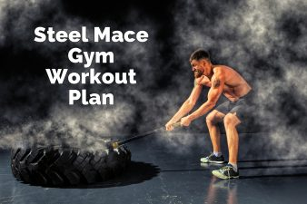 Muscled Man using Steel Mace Gym Workout Plan