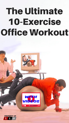 Man on exercise ball working while woman is meditatiing.