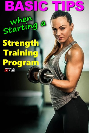 Basic Tips when starting a Strength Training Program